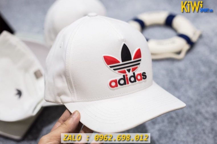 Xưởng May Nón Thể Thao Adidas Logo Thuê Màu Trắng Quá Đẹp