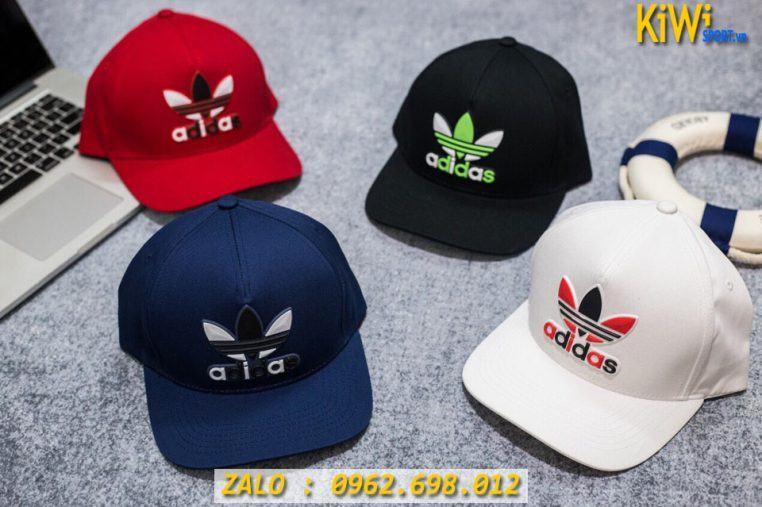 Xưởng May Sỉ Nón Thể Thao Adidas Logo Thêu Nổi Đẹp Mắt