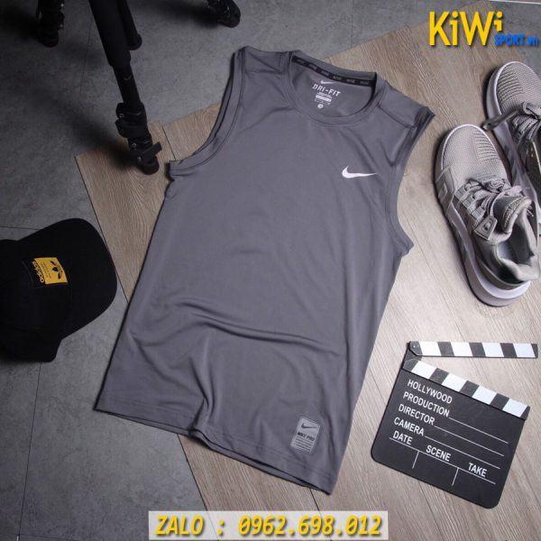Xưởng Sỉ Áo Thể Thao Sát Nách Nike Pro Màu Xám Đen Rất Đẹp