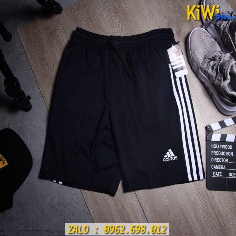 Xưởng Sỉ Quần Sort Thể Thao Nam Adidas 3 Sọc Thun Co Giãn Cao Cấp