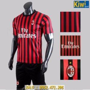 Áo AC Milan 2019 - 2020 sân nhà sọc đỏ đen cực chất