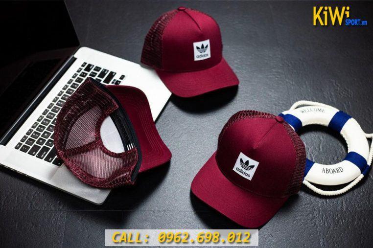 Mẫu Nón Adidas Phối Lưới Màu Đỏ Đô Hàng VNXK