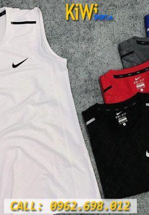 Chuyên Sỉ Áo Thể Thao Sát Nách Nam Hiệu Nike 5 Màu Tuyệt Đẹp