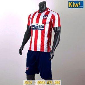 Áo Bóng Đá CLB Atletico Madrid 2019 - 2020 Sọc Xanh Đỏ Sân Nhà