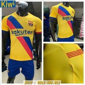 Áo Bóng Đá CLB Barcelona 2019 - 2020 Màu Vàng Sân Khách Rất Đẹp