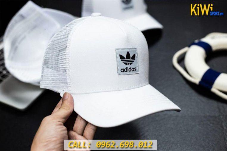 Mẫu Nón Adidas Phối Lưới Màu Trắng Hàng VNXK Cao Cấp