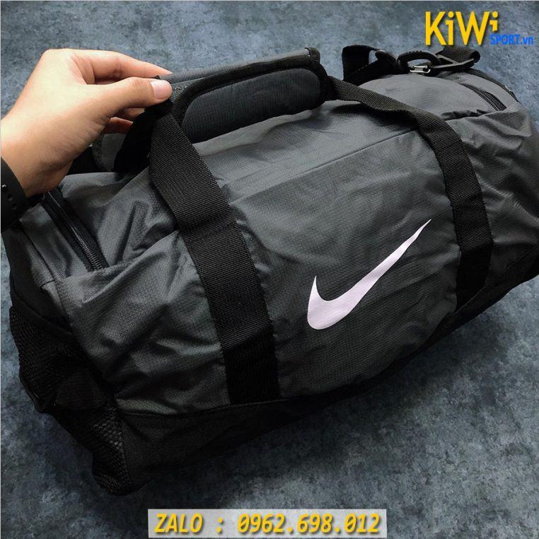 Cận Cảnh Mẫu Túi Trống Nike Chất Dù Cực Bền Màu Xám Rất Đẹp