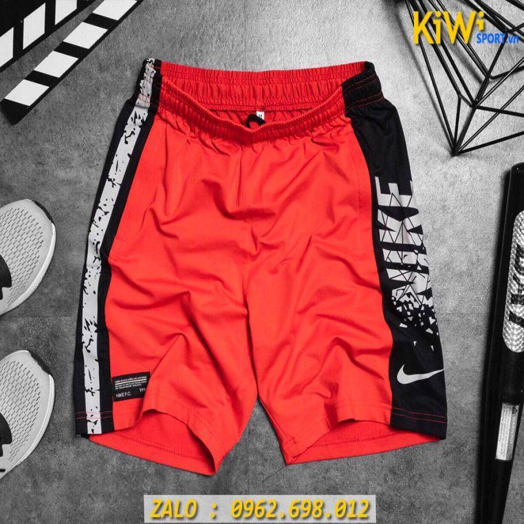 Lấy Sỉ Quần Thể Thao Nam Nike In Hông Màu Đỏ Rất Đẹp