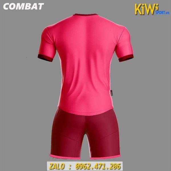 Mặt Sau Mẫu Áo Bóng Đá Không Logo Combat Màu Hồng Tuyệt Đẹp