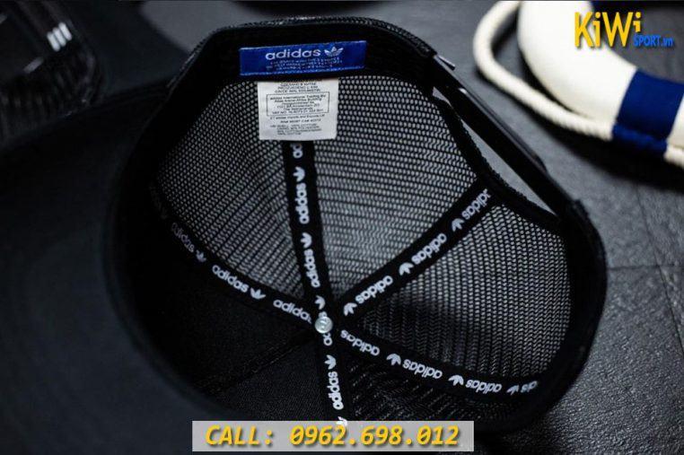 Mặt Trong Mẫu Nón Adidas Phối Lưới Màu Đen Rất Đẹp