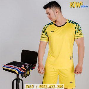 Mẫu Áo Bóng Đá Không Logo Razor 2019 Màu Vàng Tuyệt Đẹp