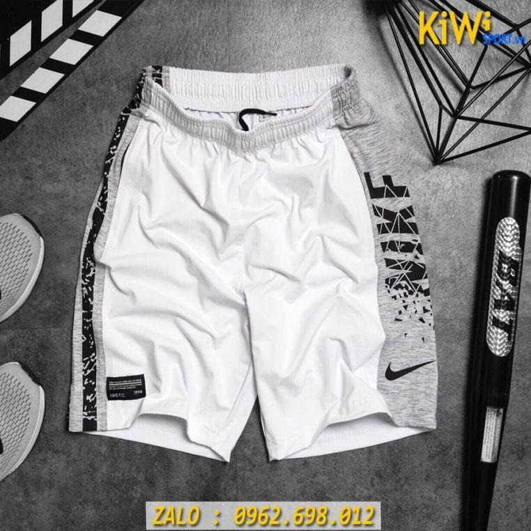 Mẫu Quần Thể Thao Nam Nike Màu Trắng Thun Co Giãn Cao Cấp