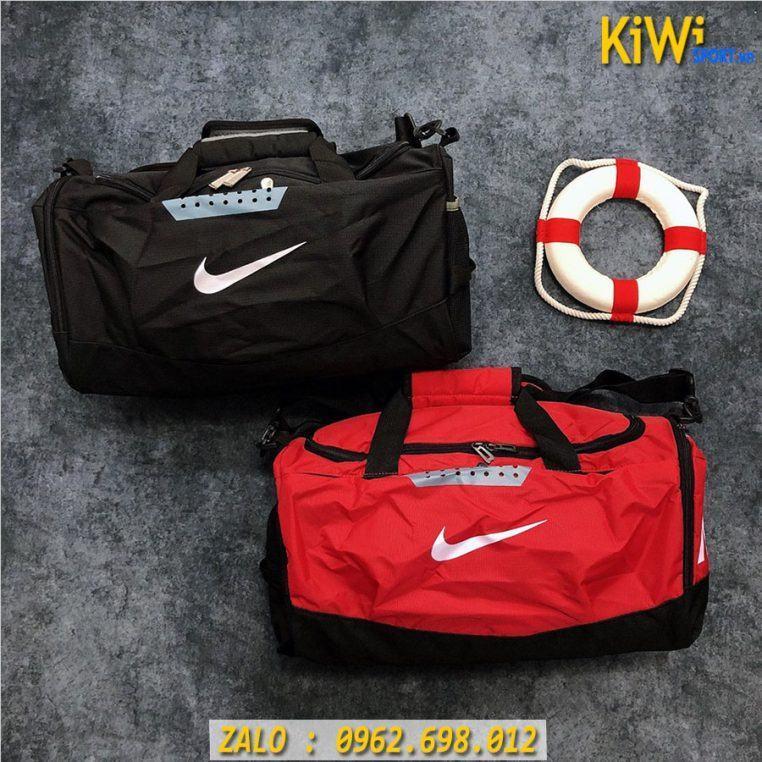 Mẫu Túi Trống Nike Chất Dù Siêu Bền Màu Đen Và Đỏ Rất Đẹp