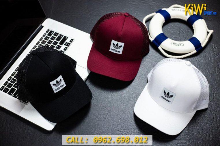 Nón Adidas Mẫu In Logo 3 Lá Hàng VNXK Cao Cấp