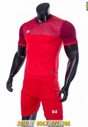 Áo Bóng Đá Không Logo Warrix 2019 Màu Đỏ