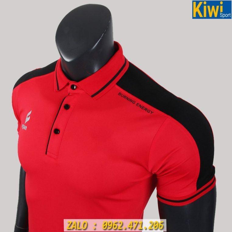 Áo Thun Polo Egan Màu Đỏ Thun Thể Thao Rất Đẹp