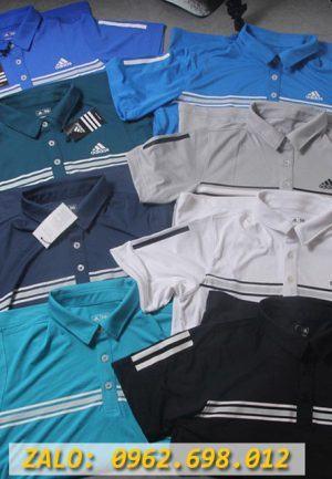 Chuyên Sỉ Áo Thể Thao Nam Cổ Trụ Adidas 3 Sọc