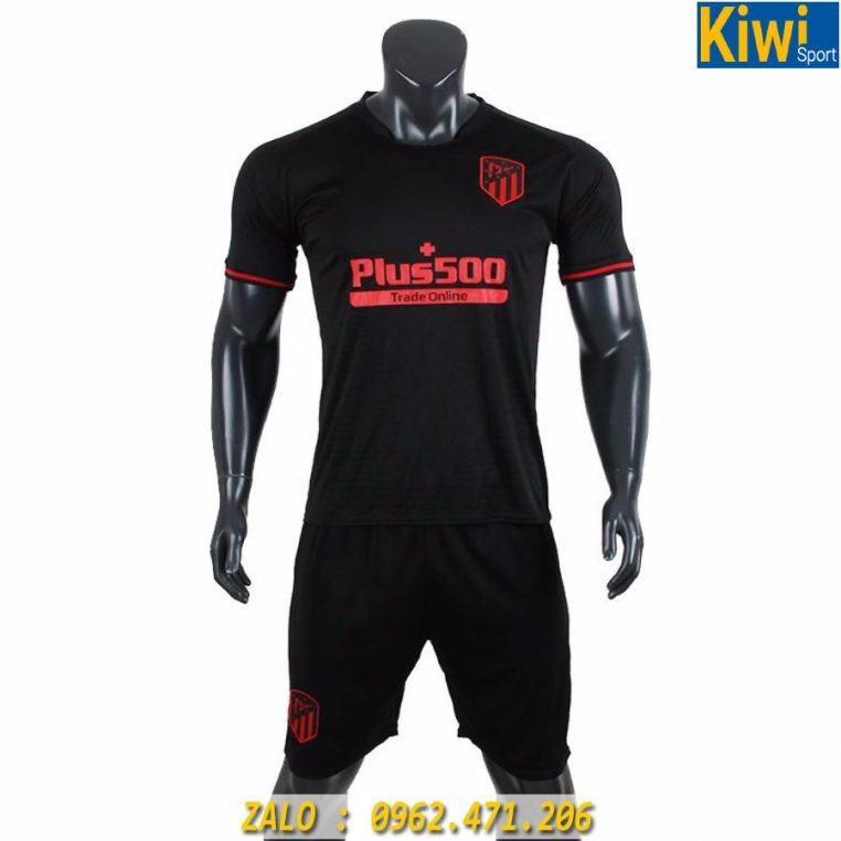 Áo Đá Bóng CLB Atletico Madrid 2019 - 2020 Sân Khách Màu Đen