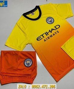 Áo Bóng Đá Trẻ Em CLB Man City 2019 - 2020 Màu Cam