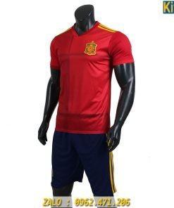 Đồ Đá Banh Tuyển Tây Ban Nha Thi Đấu Euro 2020 Màu Đỏ