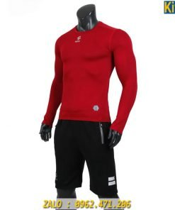 Áo Lót Body Tay Dài Egan Màu Đỏ Giữ Nhiệt - Chống Tia UV Cực Tốt