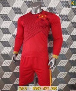 Áo Bóng Đá Đội Tuyển Việt Nam 2020 màu Đỏ Tay Dài