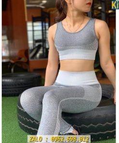 Bộ Đồ Gym Nữ Chất Dệt Quảng Châu