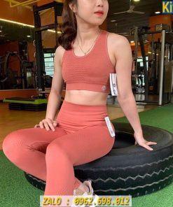 Set Đồ Tập Gym Nữ Hàng Dệt Quảng Châu Cao Cấp