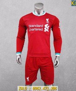 Áo Bóng Đá Dài Tay CLB Liverpool 2020 Màu Đỏ