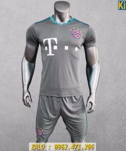Áo Bayern Munich 2020 - 2021 Màu Xám Sân Khách Tuyệt Đẹp