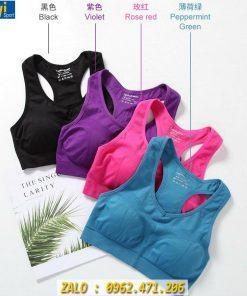 Áo Bra Gym - Yoga Nữ Chất Dệt Mẫu Khoét Lưng Cực Xinh