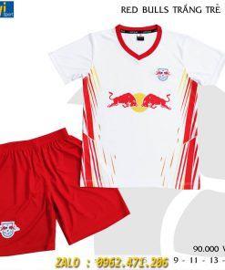 Áo Bóng Đá Trẻ Em 2021 Mẫu Red Bulls Trắng