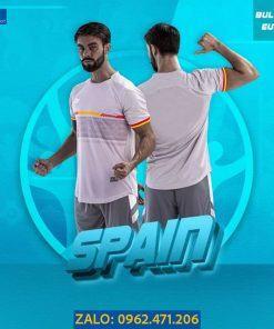 Áo Bóng Đá Euro 2021 Tuyển Tây Ban Nha Màu Xám