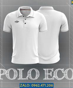 Áo Polo Thể Thao Eco Màu Trắng 2021 Trẻ Trung
