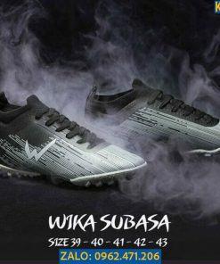 Giày Đá Banh Wika Subasa Màu Đen Đế TF Đá Cỏ Nhân Tạo