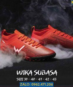 Giày Đá Banh Wika Subasa Màu Đỏ Đế TF